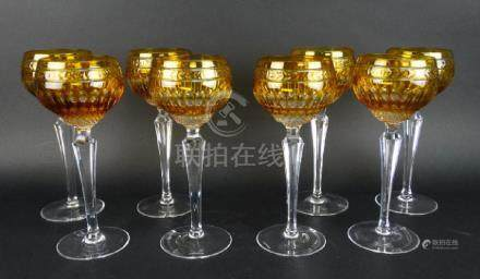 Wedgwood Crystal Crown Amber Wine Hocks