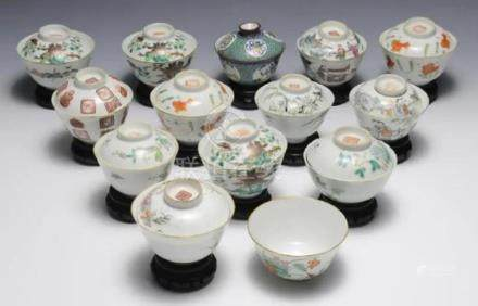(14) CHINESE PORCELAIN BOWLS