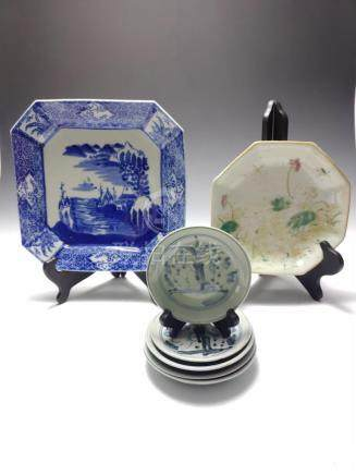 (7) GROUP OF CHINESE & JAPANESE EXPORT DISHES