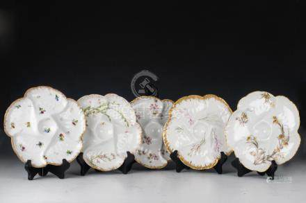 (11) FRENCH LIMOGES PORCELAIN OYSTER & FISH PLATES
