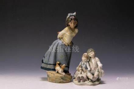 (2) LLADRO PORCELAINS FRIENDSHIP & GUESS WHAT