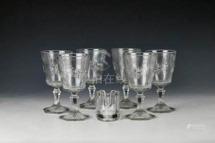(7) EAPG GOBLETS AND SPOON REST