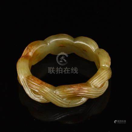 Inside Diameter 57 mm Chinese Hetian Jade Bracelet
