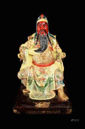 An Old Chinese Guangong Statue