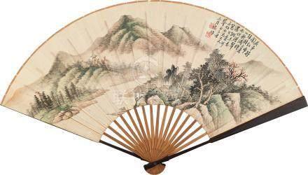 陸恢  春山溪岸圖 己丑(1889)年作