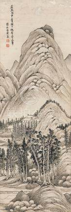 黃鼎 夏山圖  康熙丙申(1716)年作