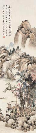 金城 山居垂釣圖  丙午(1906)年作