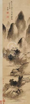 楊文驄  山居圖