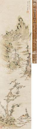 陸治  觀山亭圖 嘉靖乙丑(1565)年作