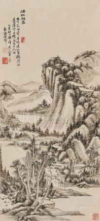 李世倬  清秋勝概圖 乙亥(1755)年作