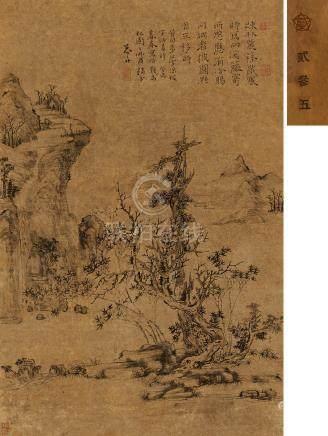 沈宗騫  寒林圖 癸未(1763)年作
