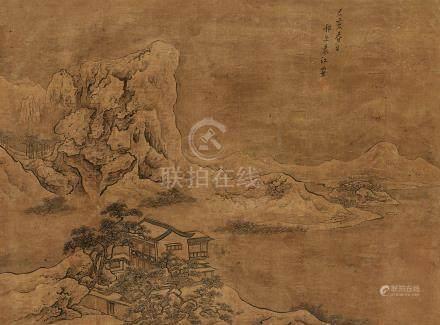 袁江  江樓遠眺圖 己亥(1719)年作