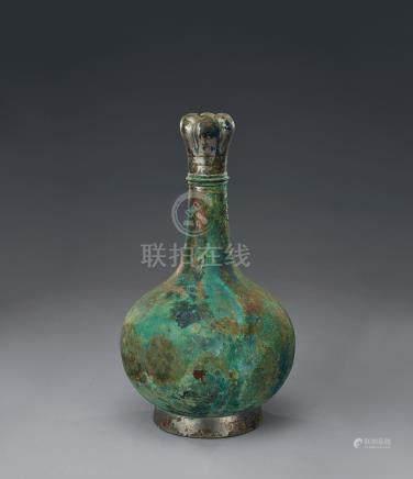 西漢 青銅蒜頭壺