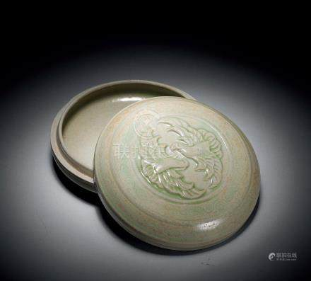北宋 越窯雙禽紋蓋盒