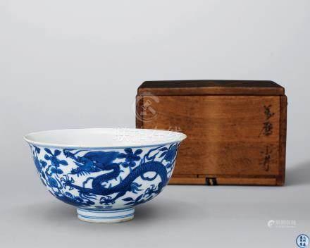 明萬曆 青花龍紋碗