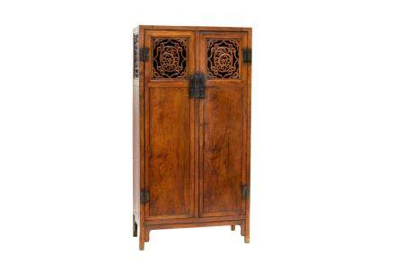 A CHINESE HUANGHUALI SQUARE-CORNER 2-DOOR CABINET (Y)