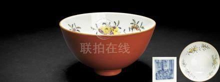 清乾隆 三彩瓷碗