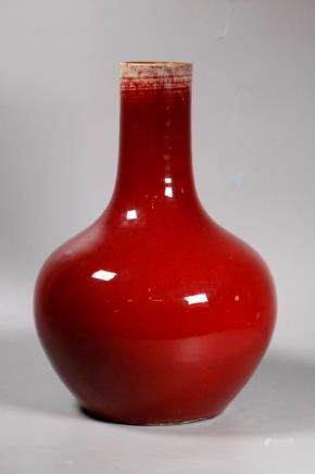 Chinese Qing Underglaze Red Porcelain Vase