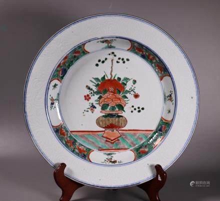 Chinese Kangxi Famille Verte Porcelain Charger
