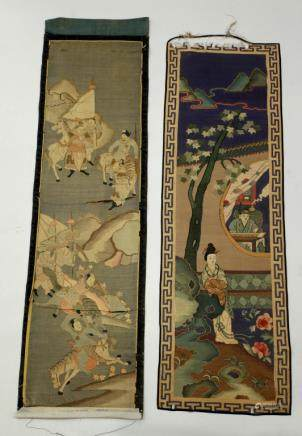 2 Chinese 19 Century Kesi Silk Tapestries