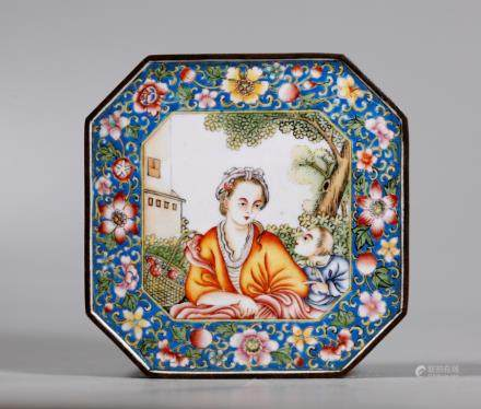Chinese Canton Enamel & Bronze European Box
