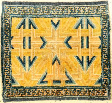 Rare & Important Yellow Ningxia 'Seat-Mat' (Kangxi Star Patt
