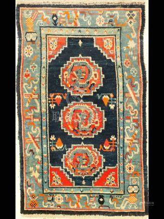Tibetan Gyantse 'Khaden Ceremonial-Rug' (Dragons),