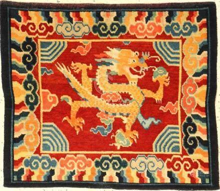 Tibetan Shigatse 'Jabuye Ceremonial-Rug' (Dragon),