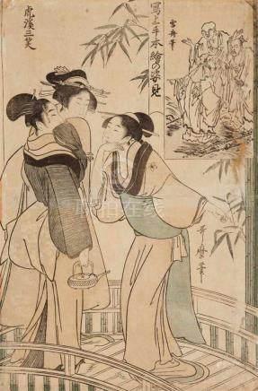 Kitagawa Utamaro I (1754-1806) or Kitagawa Utamaro II (d. 1831)Ôban. Series: Kôkei sansho. Three