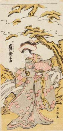 Utagawa Toyomaru (act. 1785-1797)Hosoban. The actor Iwai Kumesaburô I in the role of the young