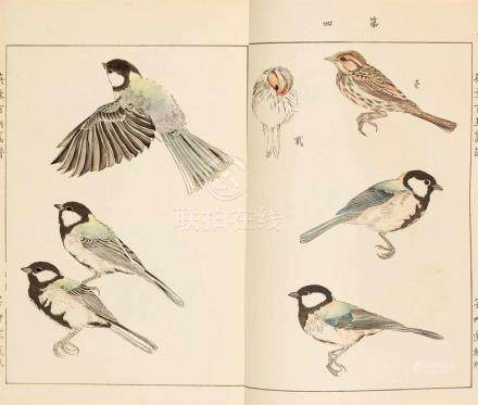 Kôno Bairei (1844-1895) and Takeuchi Seihô (1864-1942)Three illustrated books. Two by Kôno Bairei (