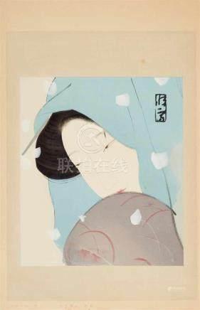 Kitano Tsunetomi (1880-1947)Dai ôban. Series: Dai Chikamatsu zenshû - Furoku mokuhan. The heroine