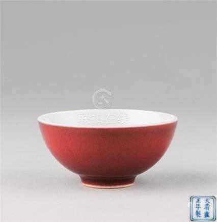 清雍正(1723-1735) 霁红釉小杯