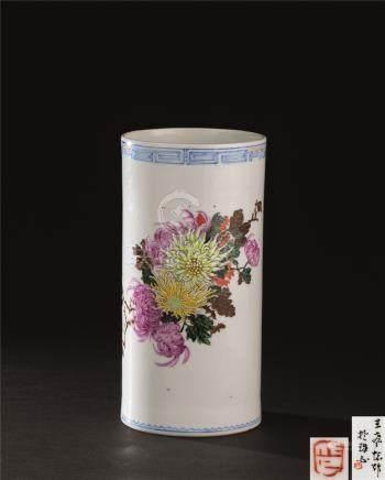 文革时期(1966-1976) 粉彩香筒