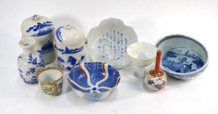 A group of nine Asian ceramic wares