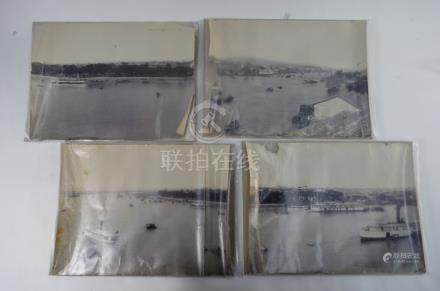Four 19th century Chinese topographical photographs