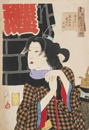 Tsukioka Yoshitoshi (1839-1892) From the 32 Series: scenes a