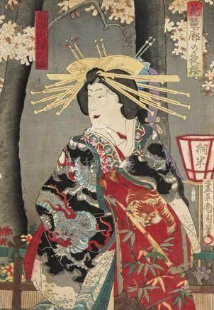 Kunichika Toyohara (1835-1900) Utagawa School Genre: Feminin