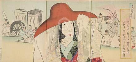 Kobayashi Kiyochika (1847-1915) La Escritora sixho Nagom (96