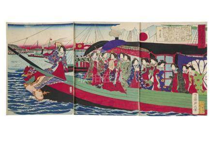 Yoshu Chikanobu (1838-1912) Utagawa School, Kunisada line Ge