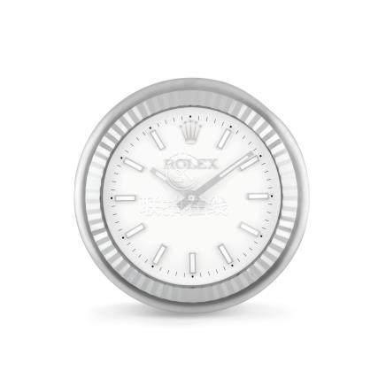 Inducta為勞力士而製,獨特,不銹鋼石英掛鐘,約2000年製