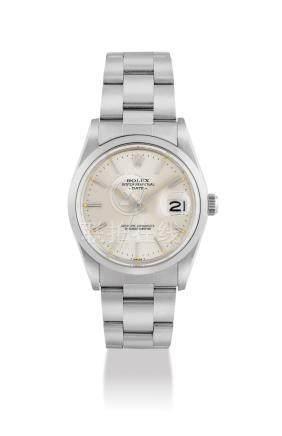 """勞力士,不銹鋼自動上弦鏈帶腕錶,配中心秒針及日曆顯示,""""Date"""",型號15000,約1984年製"""