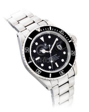 """勞力士,不銹鋼自動上弦鏈帶腕錶,配中心秒針及日曆顯示,""""Subarminer"""",約1993年製"""