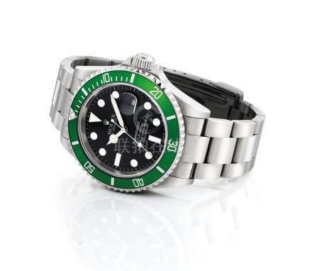 """勞力士,不銹鋼自動上弦鏈帶腕錶,配中心秒針,日曆顯示及平頭4圈片,""""Submariner"""",型號16610LV,約2003年製"""