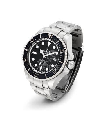 """勞力士,精細,不銹鋼自動上弦鏈帶腕錶,配中心秒針,日曆顯示及氦氣排放閥,""""Sea-Dweller Deepsea"""",型號116660,約2008年製"""