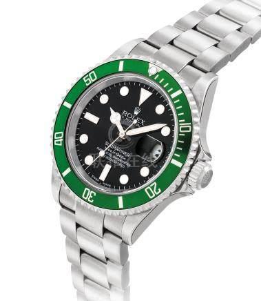 """勞力士,不銹鋼自動上弦鏈帶腕錶,配中心秒針,日曆顯示及平頭4圈片,""""Submariner"""",型號16610LV,約2004年製"""