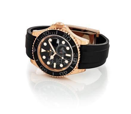 """勞力士,精細,18k紅金自動上弦腕錶,配中心秒針及日曆顯示,""""Yacht Master"""",型號116655,約2018年製"""