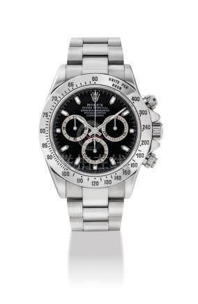 """勞力士,精細,不銹鋼自動上弦鏈帶腕錶,配計時功能,"""" 宇宙計型廸通拿"""",型號116520,約2004年製"""
