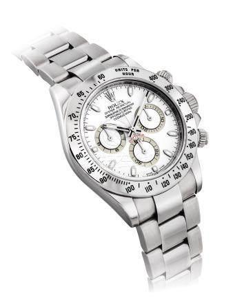 """勞力士,不銹鋼自動上弦鏈帶腕錶,配計時功能,""""宇宙計型廸通拿"""",型號116520,約2007年製"""