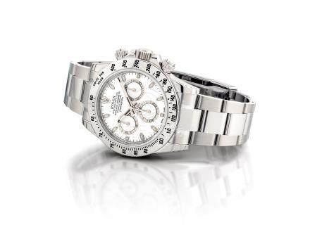 """勞力士,精細,不銹鋼自動上弦鏈帶腕錶,配計時功能,"""" 宇宙計型廸通拿"""",型號116520 New Old Stock,約2015年製"""